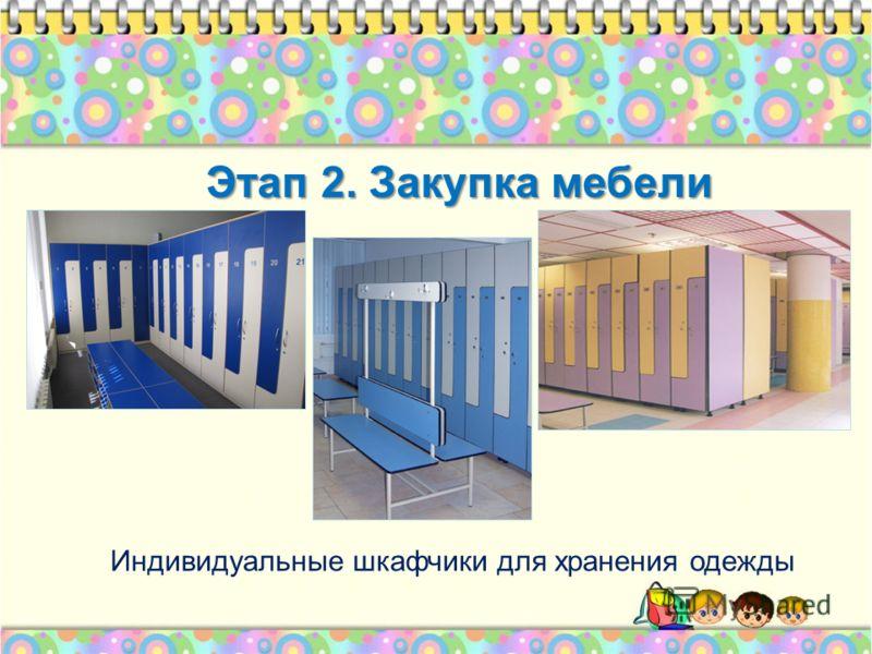 Этап 2. Закупка мебели Индивидуальные шкафчики для хранения одежды