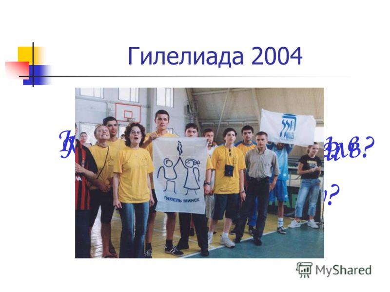 Гилелиада 2004 Кто хочет поиграть в футбол? Узнать что, где и когда? Попасть метко в цель? И поддержать любимую команду?