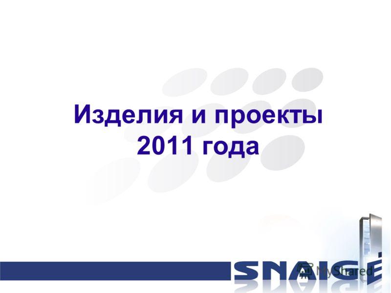 Изделия и проекты 2011 года