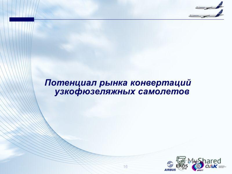 Потенциал рынка конвертаций узкофюзеляжных самолетов 16