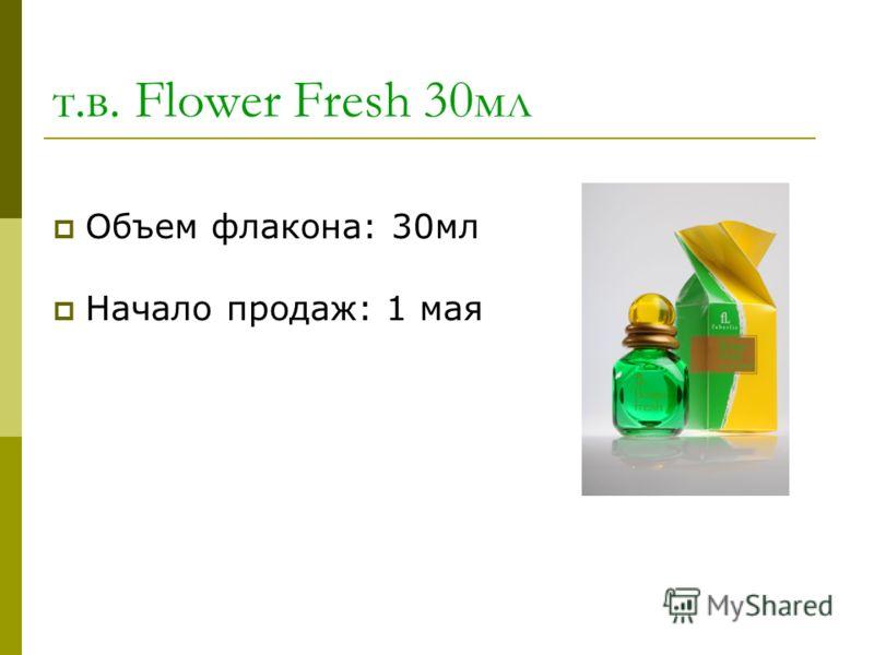 т.в. Flower Fresh 30мл Объем флакона: 30мл Начало продаж: 1 мая