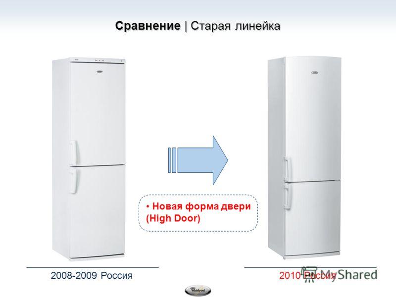 Сравнение | Старая линейка 2008-2009 Россия2010 Россия Новая форма двери (High Door)