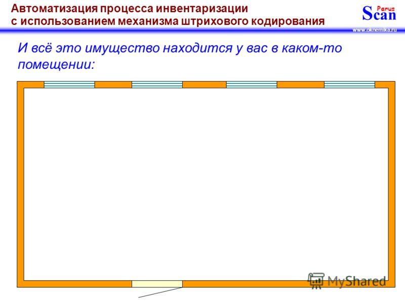 S can Parus www.oknemika.ru Автоматизация процесса инвентаризации с использованием механизма штрихового кодирования А может и ещё больше…