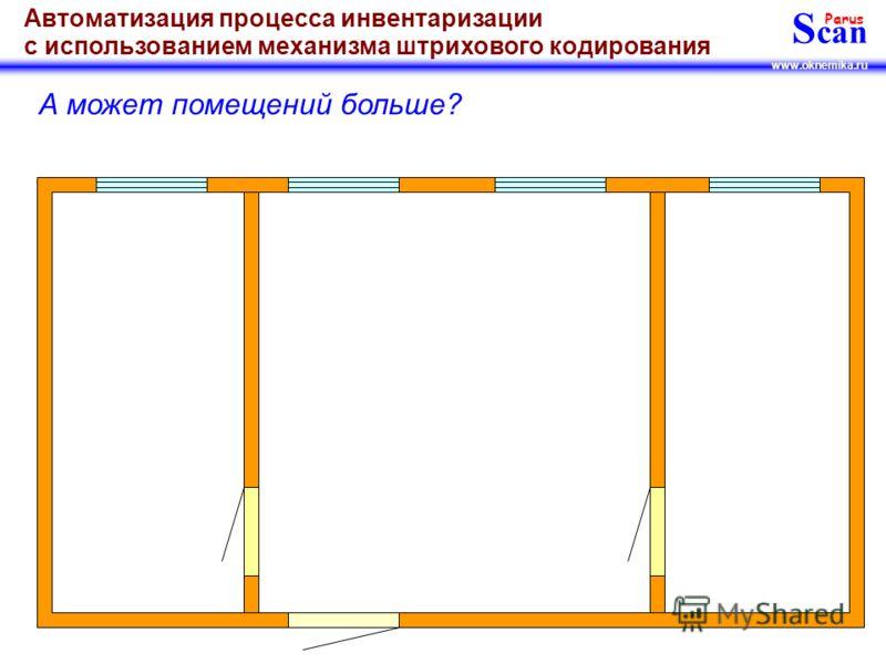 S can Parus www.oknemika.ru Автоматизация процесса инвентаризации с использованием механизма штрихового кодирования … нет, в двух помещениях!!!