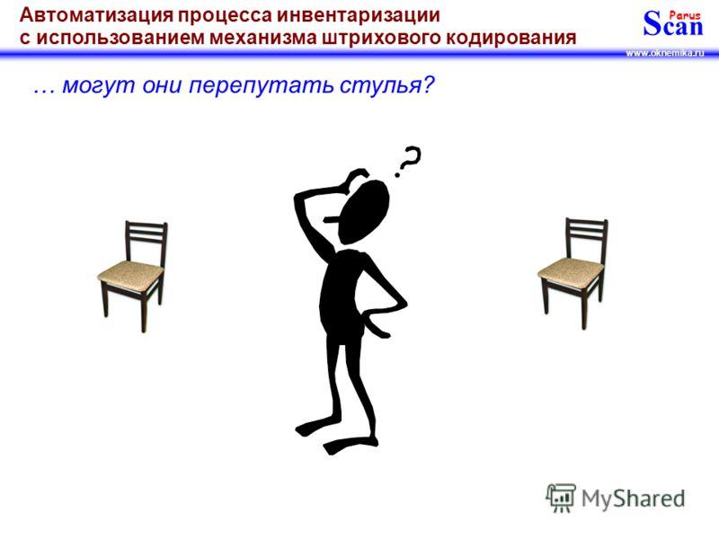 S can Parus www.oknemika.ru Автоматизация процесса инвентаризации с использованием механизма штрихового кодирования … а может и не один сотрудник тратит свое рабочее время на проведение инвентаризации???