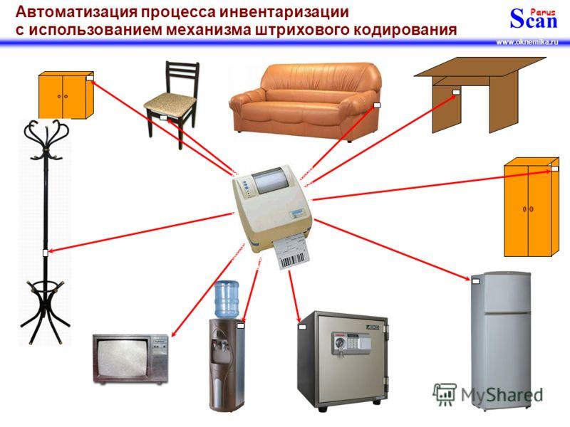 S can Parus www.oknemika.ru Автоматизация процесса инвентаризации с использованием механизма штрихового кодирования Далее, Вы сможете наклеить эти этикетки на все объекты и помещения. Примеры этикеток: Наклеивается, как правило, на наличник входной д
