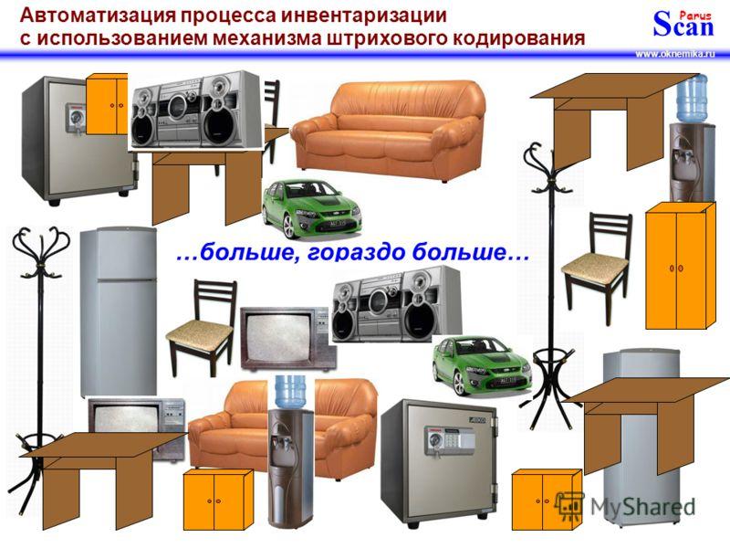 S can Parus www.oknemika.ru Автоматизация процесса инвентаризации с использованием механизма штрихового кодирования Ещё больше…