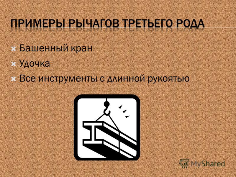 Башенный кран Удочка Все инструменты с длинной рукоятью