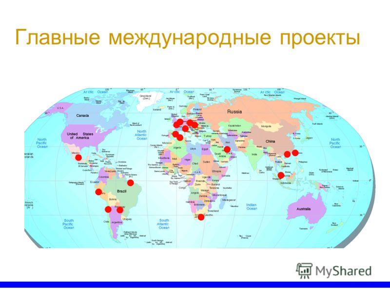 Главные международные проекты