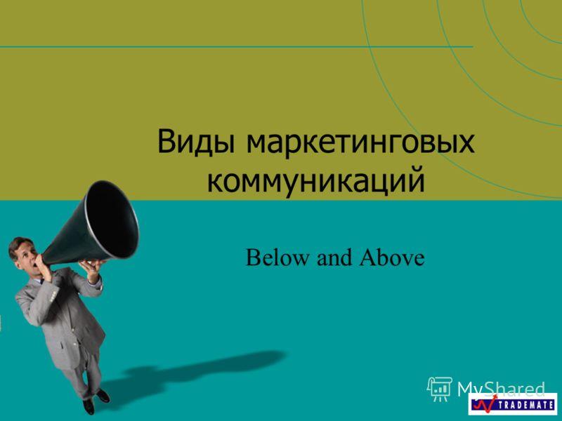 Виды маркетинговых коммуникаций Below and Above