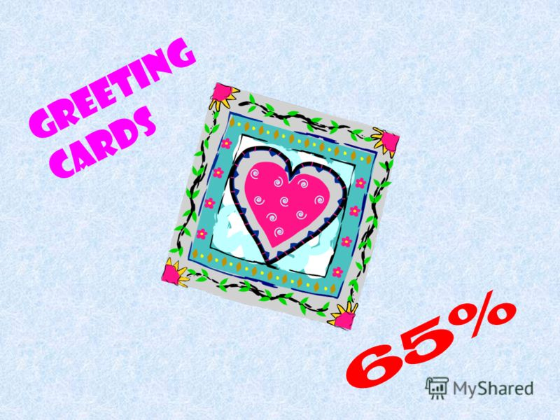 Greeting Cards 65%