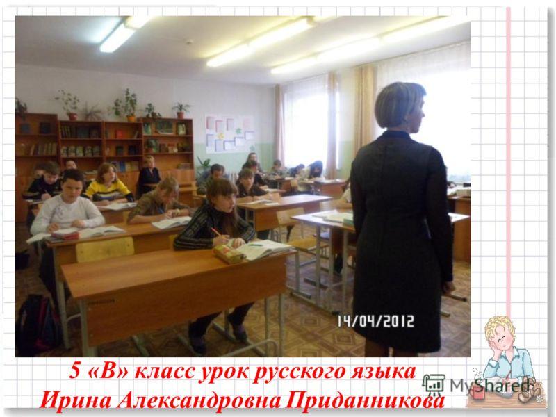 5 «В» класс урок русского языка Ирина Александровна Приданникова