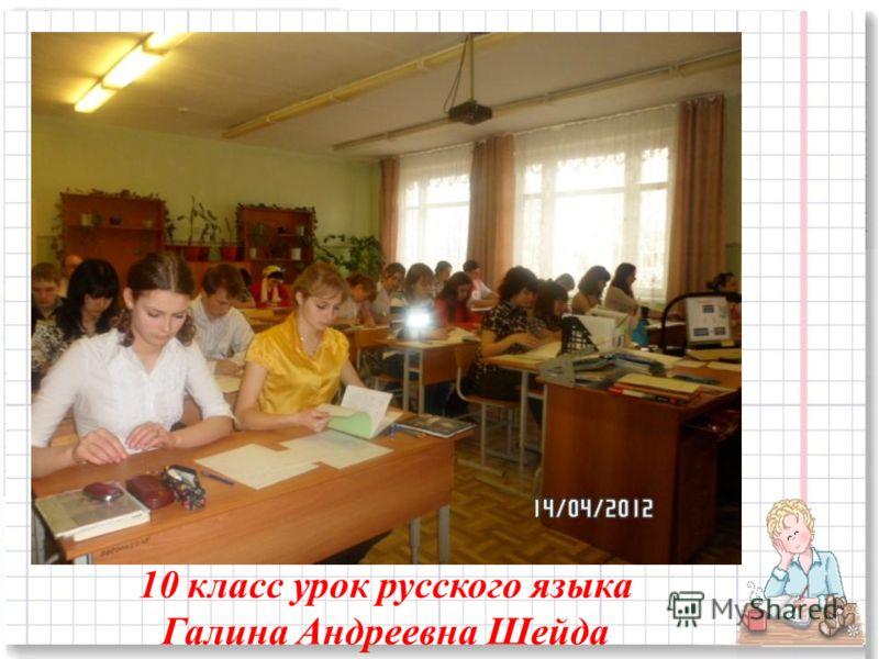 10 класс урок русского языка Галина Андреевна Шейда