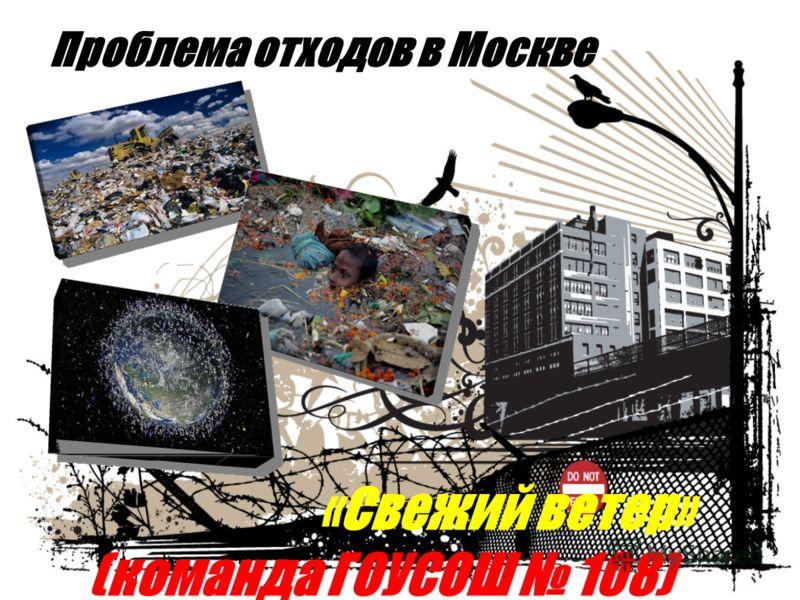 Проблема отходов в Москве «Свежий ветер» (команда ГОУСОШ 108)