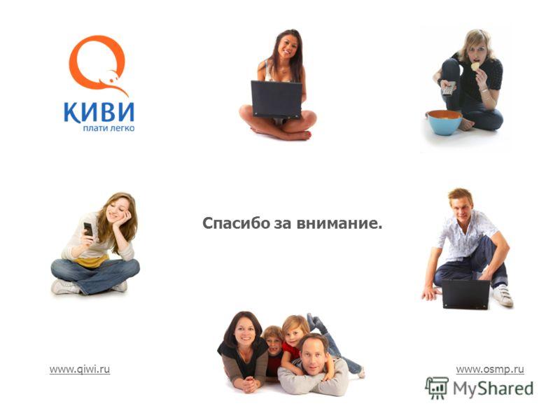 Спасибо за внимание. www.qiwi.ruwww.qiwi.ru www.osmp.ruwww.osmp.ru