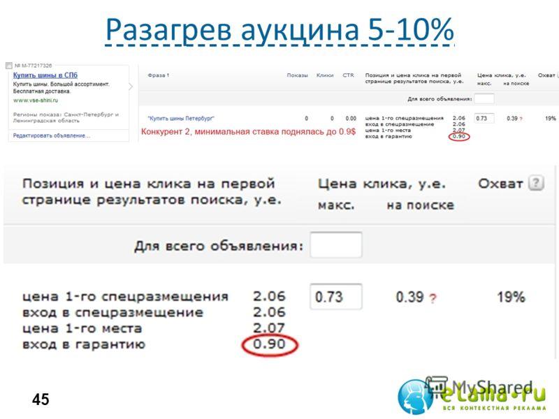 Разагрев аукцина 5-10% 45