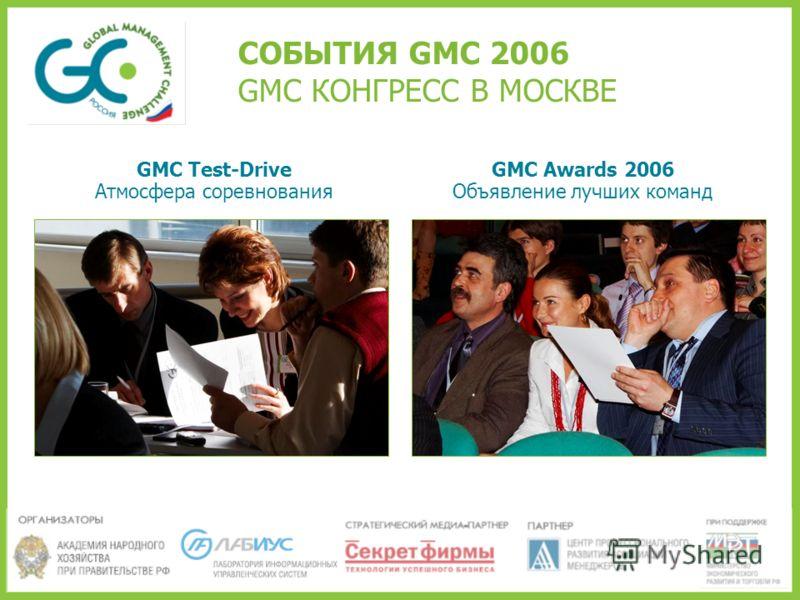 СОБЫТИЯ GMC 2006 GMC КОНГРЕСС В МОСКВЕ GMC Test-Drive Атмосфера соревнования GMC Awards 2006 Объявление лучших команд
