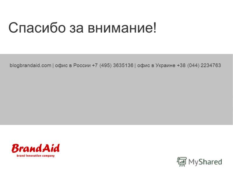 blogbrandaid.com | офис в России +7 (495) 3635136 | офис в Украине +38 (044) 2234763 Спасибо за внимание!