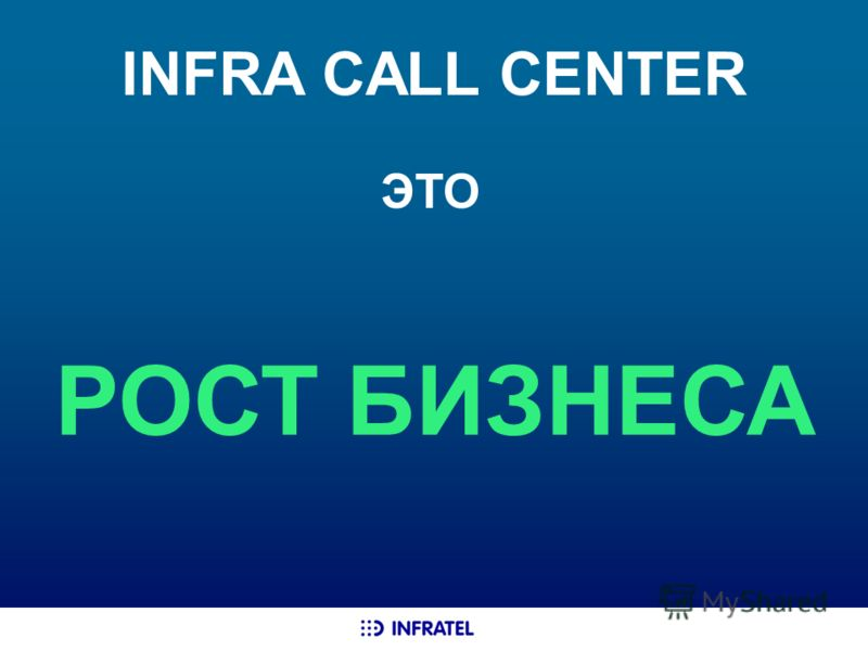 INFRA CALL CENTER РОСТ БИЗНЕСА ЭТО