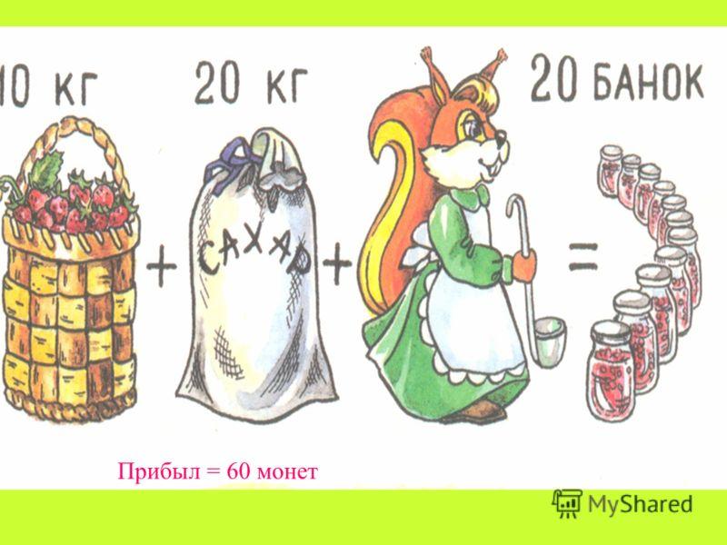 Прибыл = 60 монет