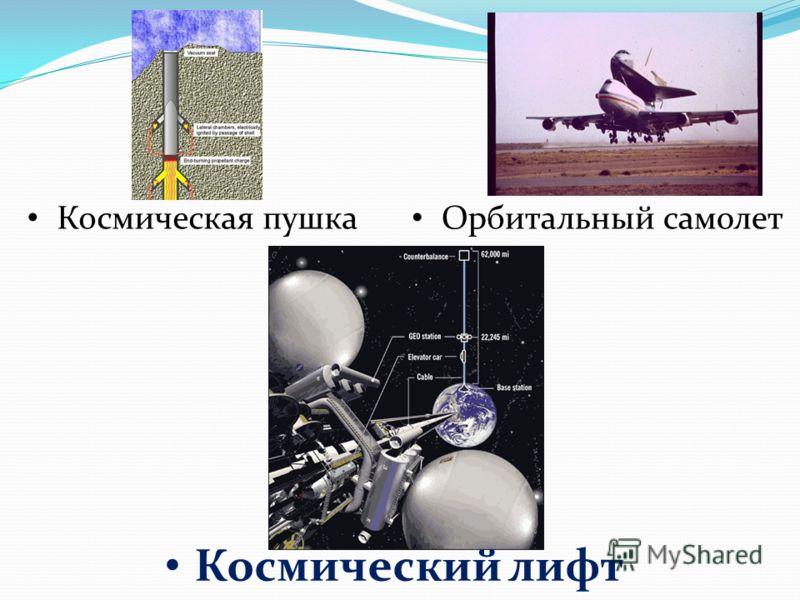 Космический лифт Космическая пушка Орбитальный самолет