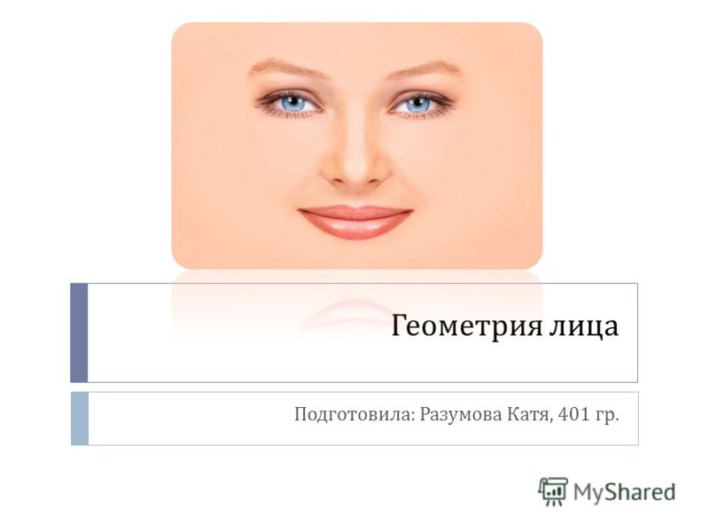 Геометрия лица Подготовила : Разумова Катя, 401 гр.