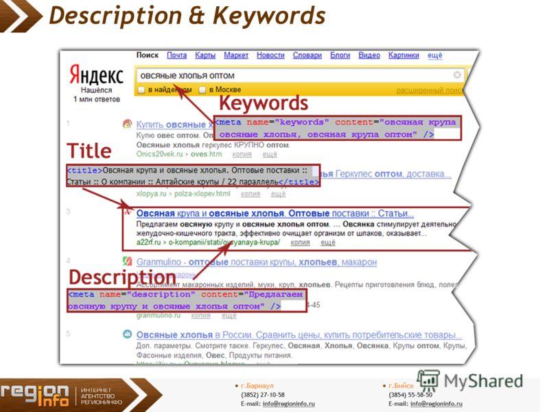 Description & Keywords