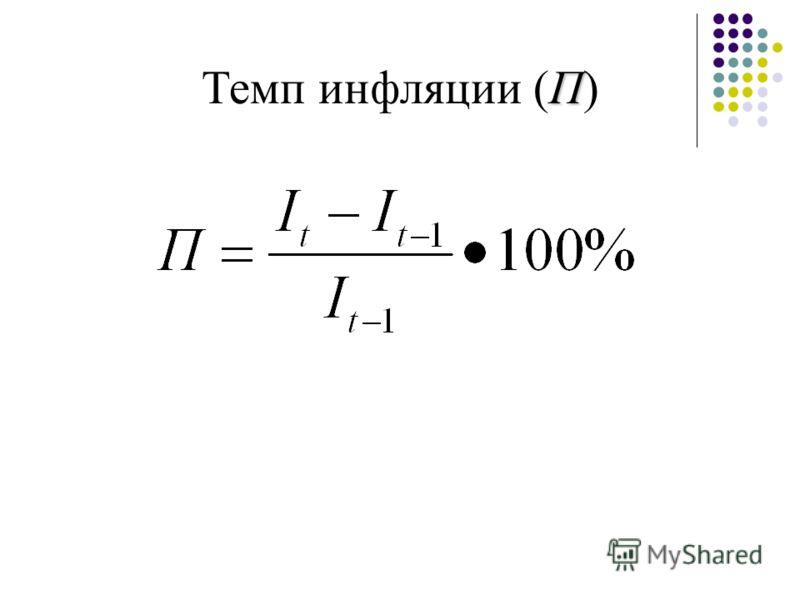 П Темп инфляции (П)