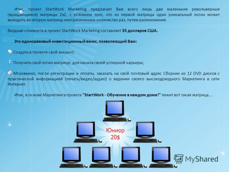 Маркетинговая программа проекта