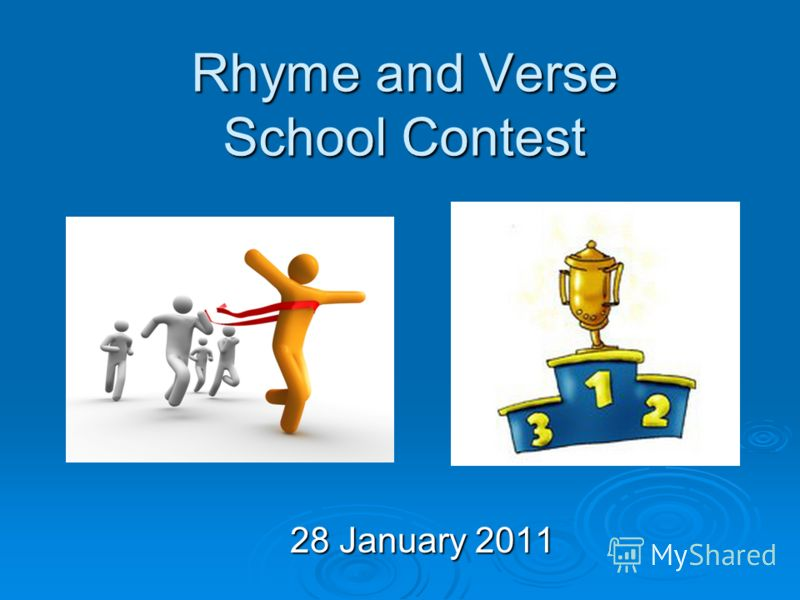 Rhyme and Verse School Contest 28 January 2011