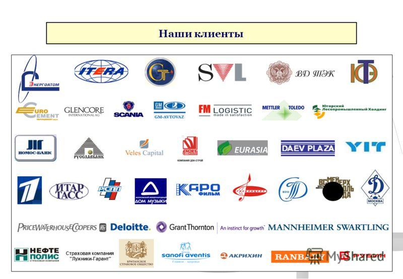 Cтраховая компания Лужники-Гарант Наши клиенты