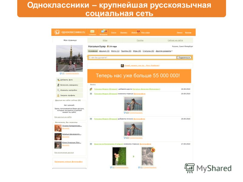 Одноклассники – крупнейшая русскоязычная социальная сеть