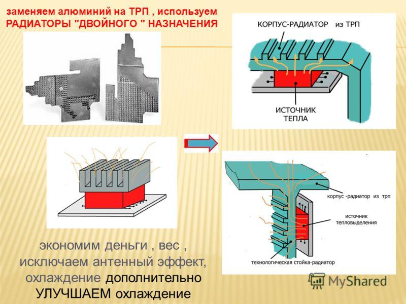 заменяем алюминий на ТРП, используем РАДИАТОРЫ ДВОЙНОГО  НАЗНАЧЕНИЯ