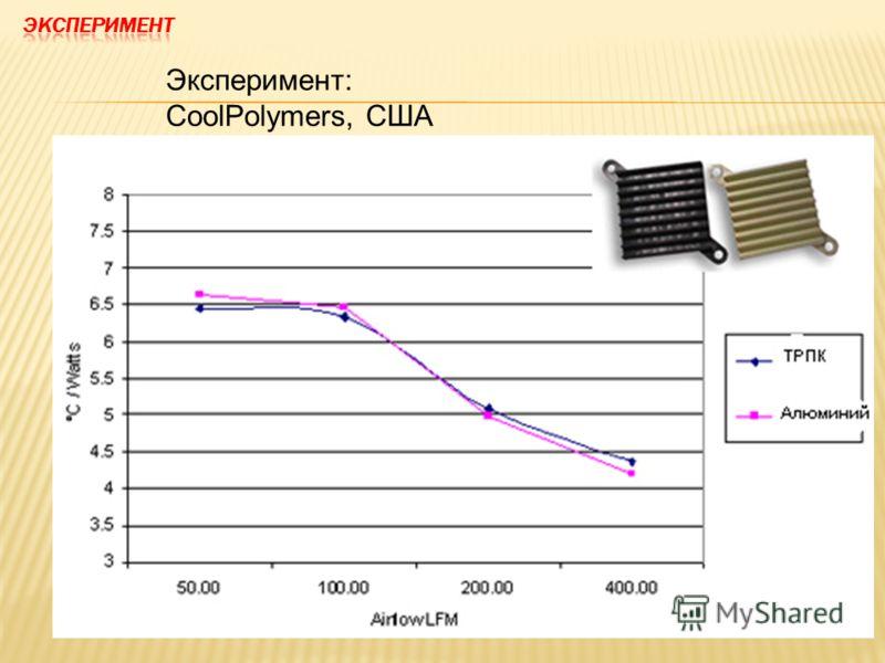 Эксперимент: CoolPolymers, США
