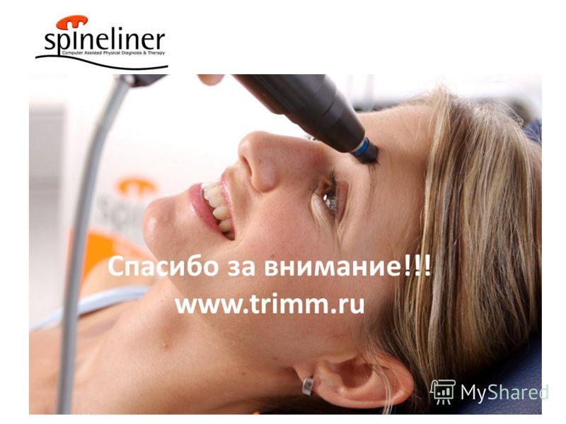 Спасибо за внимание!!! www.trimm.ru
