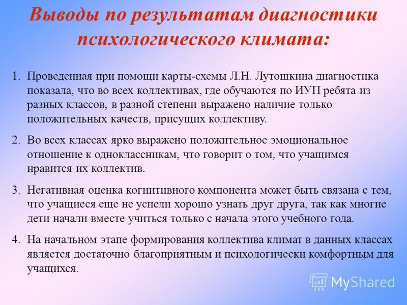 карты-схемы Л.Н. Лутошкина