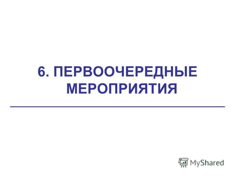 6. ПЕРВООЧЕРЕДНЫЕ МЕРОПРИЯТИЯ