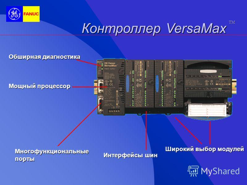 Ввод/вывод VersaMax TM Обширная диагностика Варианты для экономии времени Варианты для экономии времени Соединяемые основы Соединяемые основы Набор сетевых интерфейсов Набор сетевых интерфейсов LED индикаторы состояния LED индикаторы состояния Широки