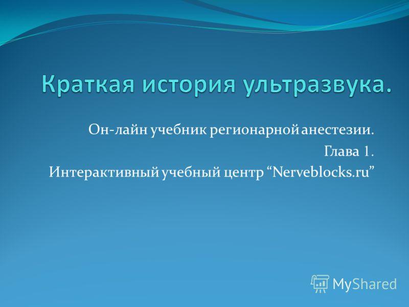 Он-лайн учебник регионарной анестезии. Глава 1. Интерактивный учебный центр Nerveblocks.ru