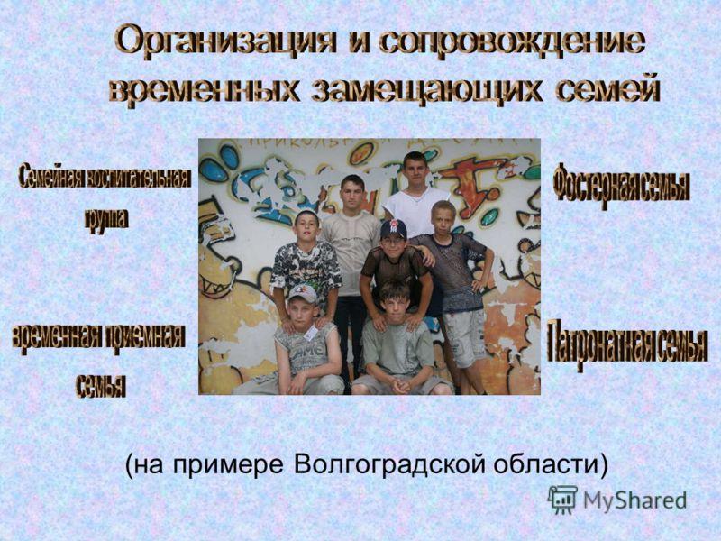 (на примере Волгоградской области)