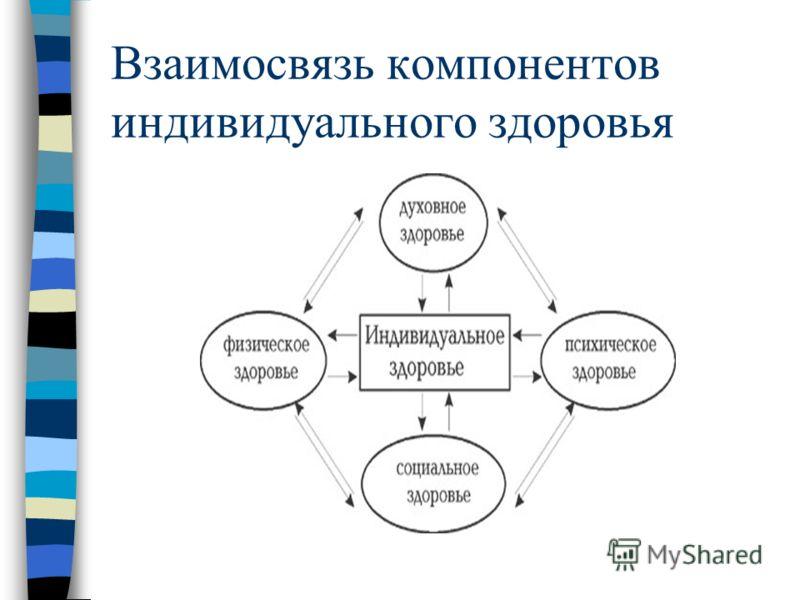Взаимосвязь компонентов индивидуального здоровья