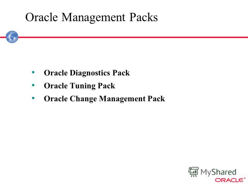 ® Oracle Management Packs Oracle Diagnostics Pack Oracle Tuning Pack Oracle Change Management Pack