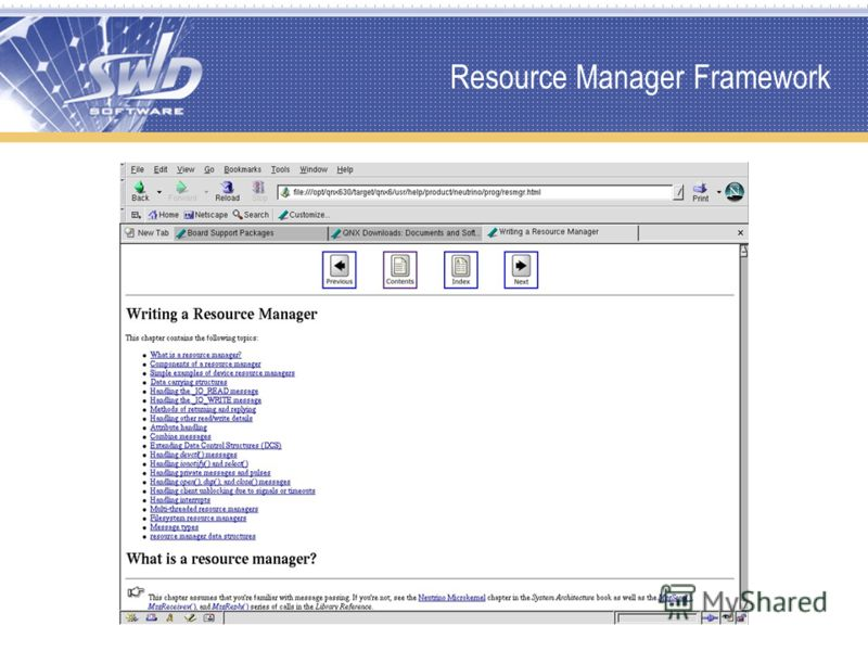 Resource Manager Framework