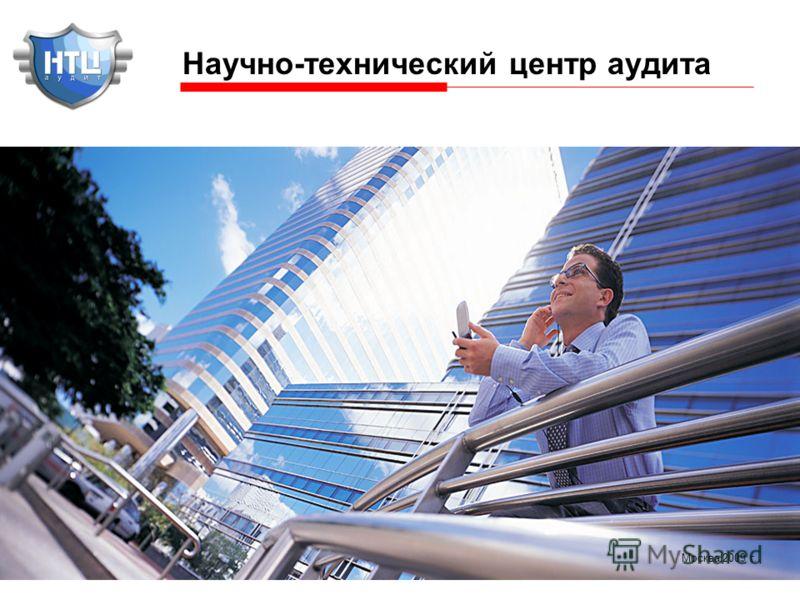 1 Научно-технический центр аудита Москва 2009 г.