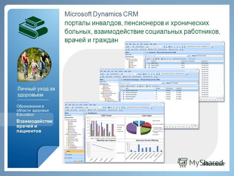 Microsoft Dynamics CRM порталы инвалдов, пенсионеров и хронических больных, взаимодействие социальных работников, врачей и граждан