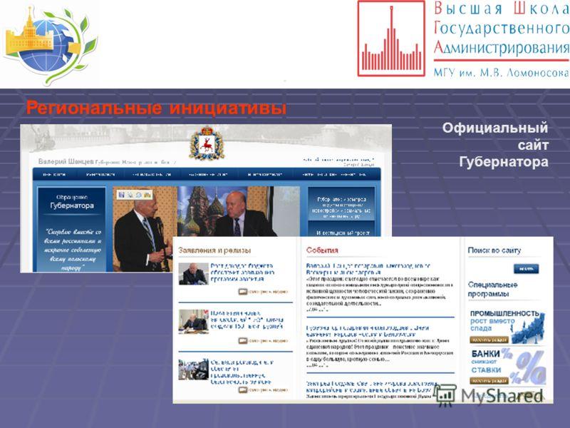 . Региональные инициативы Официальный сайт Губернатора