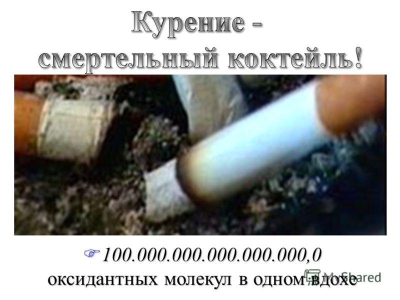 F100.000.000.000.000.000,0 оксидантных молекул в одном вдохе