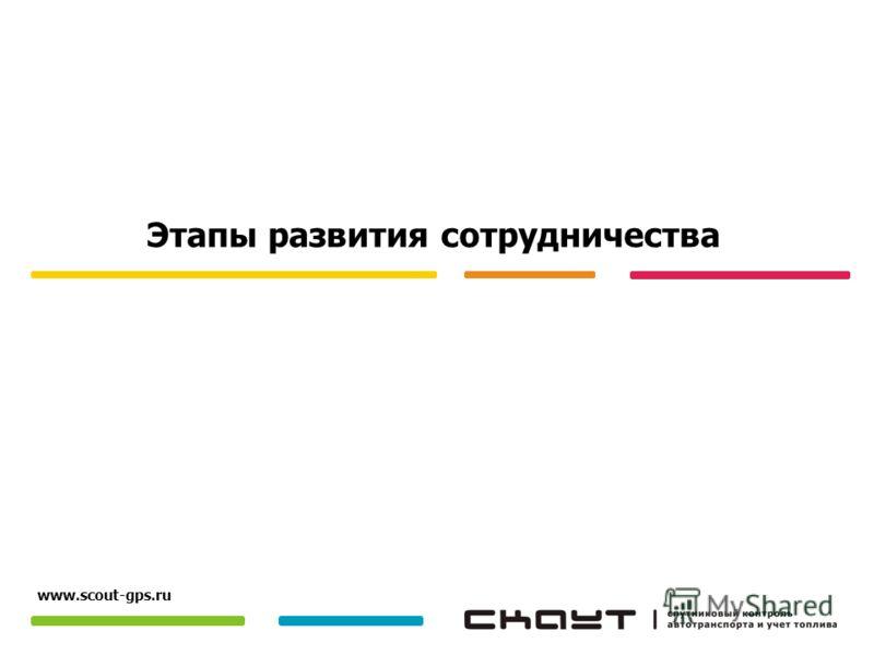 Этапы развития сотрудничества www.scout-gps.ru