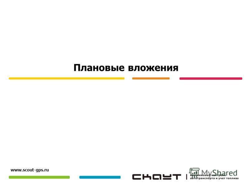 Плановые вложения www.scout-gps.ru