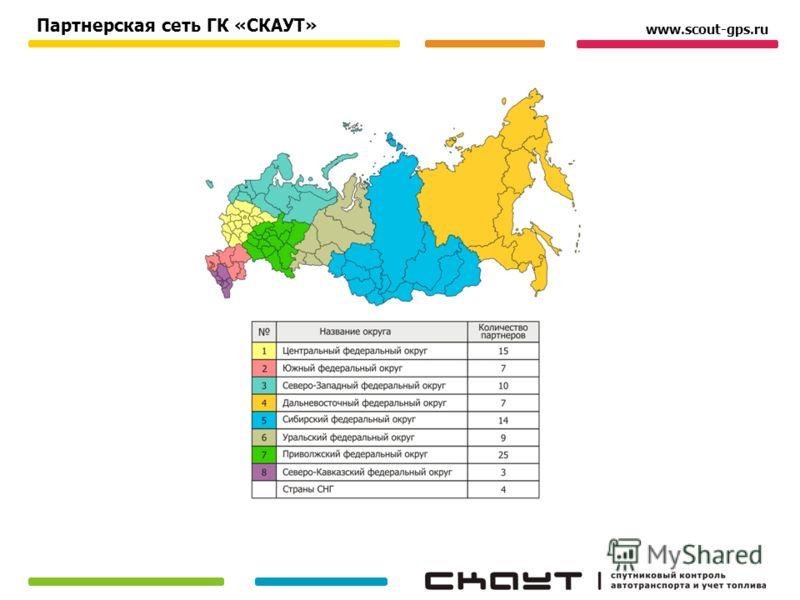 Партнерская сеть ГК «СКАУТ» www.scout-gps.ru